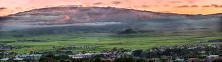 Snow Atop Mauna Kea Summit Sunset Panorama December 23, 2017