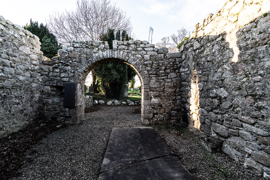 ANCIENT CHURCH AND GRAVEYARD AT TULLY [LAUGHANSTOWN LANE NEAR THE LUAS TRAM STOP]-134561