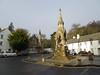 Atholl Memorial Fountain, Dunkeld, 2017 Dec 22 (Dunnock_D) Tags: uk unitedkingdom britain grey cloud cloudy sky dunkeld square road houses buildings atholl memorial fountain