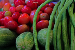 raw but edible... (Jinky Dabon) Tags: canoneos1200d cherrytomatoes cucumber cucumbers longbeans veggies vegetables vegetarian texture raw edible