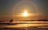 Sign of the times (Danny Lamontagne) Tags: boat bateau quebec québec canada canon fleuve river sunset sun soleil coucher rainbow arcenciel feeze cold winter hiver froid