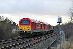 DB Cargo 67028 - Mansfield Woodhouse (the mother '66' 66001) Tags: dbschenker dbcargo ews class66 class60 class67 66137 60019 67028 mansfield mansfieldwoodhouse robinhoodline railways rail nottinghamshire doncaster toton 0g22