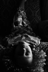 -B&W- (noemiservetto) Tags: blackandwhite black white sister shadow mask face position portrait people children