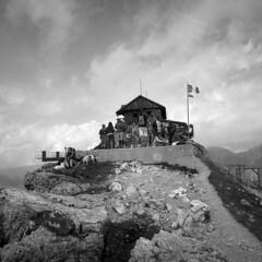 Rifugio Nuvolau - Dolomites - August 2017 (cava961) Tags: nuvolau dolomites analogue analogico monochrome monocromo bianconero bw 6x6