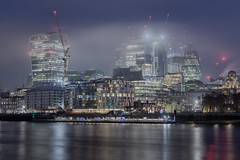 City of Light (Andrew G Robertson) Tags: london skyline cityscape city gherkin thames river walkie talkie fog mist dawn morning long exposure canon 5d mkiv mk4 night bermondsey southwark southbank rotherhithe