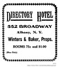 1913 directory hotel (albany group archive) Tags: albany ny history 1913 directory hotel broadway winters baker early 1900s 552 old historical vintage picture photo photograph