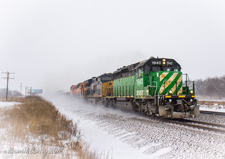 Snow-kicking SD40s