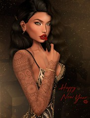 Glamerous - Happy new year (Aviaya Nox) Tags: secondlife secondlifephoto sl slphotography secondlifefashion slphoto secondlifestyle sllifestyle sllife secondlifeart lipstick girl blueberry catwa little bones