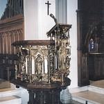 Scranton Pennsylvania ~ Saint Luke's Episcopal Church ~ Historical Church - Brass Pulpit thumbnail
