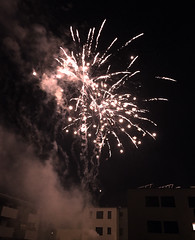 Happy 2018 (CO's Photography) Tags: austria enlighted explosion firework happynewyear houses light newyear newyearseve night rockets salzburg smoke
