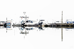 Sitka marina blown out (lgflickr1) Tags: alaska sitka marina overexposed refection water boats abstractimpressions abstract white bright washedout harbor whiteout accident