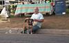 Man with Corn and Dog (Meleager) Tags: nikon f5 film cheap walgreens richmon virginia art park byrd festival 35mm