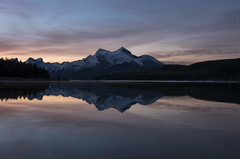 Mirror Image (corybeatty) Tags: reflection sunrise sky jasper national park canada alberta lake mountain color colour clouds