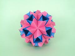 Serenity (masha_losk) Tags: kusudama кусудама origamiwork origamiart foliage origami paper paperfolding modularorigami unitorigami модульноеоригами оригами бумага folded symmetry design handmade art