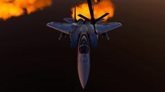 Refueling_16 (The_SkyHawk) Tags: world f15 eagle usaf refueling air force dcs digital combat simulator flight flying jets aviation virtual flightsim