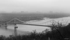 November fog (H. Taras) Tags: gtaras canon city 24105 building blackwhite river bridge fog fall kyiv kiev monochrome