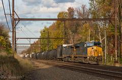 CSX Q439-28 (Dan A. Davis) Tags: csx freighttrain locomotive railroad train woodbourne pa pennsylvania et44ah cm408 q439