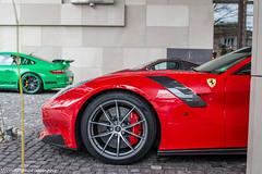 F12tdf & Co. (Nico K. Photography) Tags: ferrari f12tdf red supercars rare combo mclaren p1 porsche 997 gt3 rs green carbon hypercar nicokphotography switzerland geneva