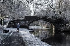 Cool Runnings (PaulEBennett) Tags: jogging bridge canal bridgewatercanal ice snow pentaxk3ii runcorn winter