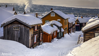 Winter in the village, Røros, Norway
