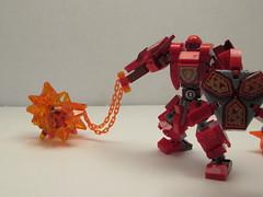 Mack's Battle Mech Suit (Izewolf Hunter) Tags: izewolf hunter moc mecha suit battle lego macy chubbybot frame design nexo knights dragon