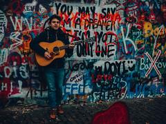 P1040198-10 (janikeus) Tags: prague guitar john lennon wall graffiti busking busker singing the beatles panasonic lumix g80 g85