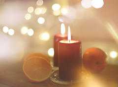 Tonight... (KissThePixel) Tags: mulberry orange oranges candle candlelight candles litbycandlelight light bokeh extremebokeh macro christmas christmaslights december 50mm stilllife stilllifephotography