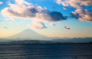 Mt. Fuji from Enoshima Beach