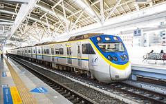 LT2342 Departure (2342區間車 啟程) (GeorgeTsai 168) Tags: train station railroad symmetry line highlight shadow overexposure
