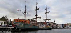 Spiegelretourschip Soeverein, Alkmaar (Meino NL OFF LINE UNTIL JUNE 21) Tags: soeverein boot boat zeilboot kanaalkade alkmaar noordholland northholland netherlands spiegelretourschipsoeverein noordhollandskanaal