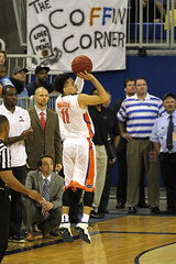IMG_8008a GOOD! 3 PTR by Chris Chiozza 11 (dbadair) Tags: universityuffloridagators201513connecticuthuskiesbasketballsecodomeucon florida unitedstates uf gators sec basketball ncaa o'connell center gainesville