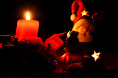 """Day 359/365 - """"Christmas Light"""" (LittleSquirrel27) Tags: 365the2017edition 3652017 day359365 25dec17 christmaslight light lights lightcreations candle candles dark blackbackground redandblack red santa santaclaus christmas merrychristmas happy special beautiful love stars"""