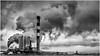 Fumées ou nuages? (francis_bellin) Tags: cheminée noiretblanc beaucaire fumée usine nuages 2018 papiers bois