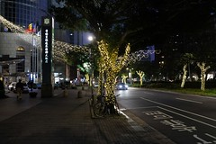 Tree lights outside 遠企中心 / Taipei Metro The Mall (theq629) Tags: taiwan taibei daan christmas tree