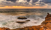 Overcast Sunrise Seascape and Rock Platform (Merrillie) Tags: daybreak sunrise nature dawn northavocabeach coast overcast morning weather newsouthwales rocks earlymorning nsw sea rockplatform ocean seascape landscape avocabeach coastal australia sky waterscape headland centralcoast water clouds