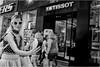 Selfie World (Steve Lundqvist) Tags: new york usa states united america manhattan stati uniti travel trip viaggio traveling girl ragazza model bw urban city urbanscape portrait ny nyc persone monocromo ritratto fashion moda mood attractive beauty crossing street road fujifilm x100s crossroad streetphotography crowd selfie herself self iphone phone shoot shooting sunglasses