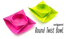 Origami Round Twist Box / Bowl Tutorial · Paper Kawaii (paperkawaii) Tags: origami instructions paperkawaii papercraft diy how video youtube tutorial