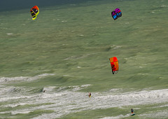 Tricolor (Jorge Montero_) Tags: kitesurf parapente playa beach miami