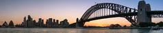 Sydney Australia (StefanKleynhans) Tags: nikon d7100 50mm panorama stitch sunset harbour bridge skyline opera house sydney australia nsw city orange blue water ocean structure architecture