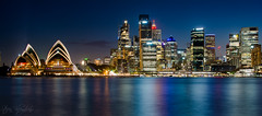 Sydney at night (StefanKleynhans) Tags: nikon d7100 35mm sydney australia nsw opera house night city lights skyline reflection harbour water ocean colour blue hour