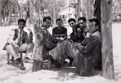 1948, Beirut: Papken and his buddies (maralina!) Tags: papken father papa dad père vartkes uncle friends buddies carefree beirut lebanon 1940s 1948 friendship amitié lescopainsdabord sunny sundappled sepia bw oldphoto familyalbum