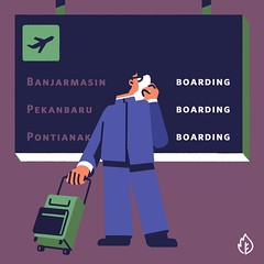 Delayed Flight (Pantau Gambut) Tags: pantaugambut gambut flight delay forestfire peatland