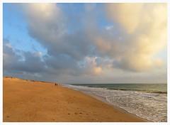 Friends (Gert Vanhaecht) Tags: reflections perspective landscape nature colour canon light clouds colours atlantic beach algarve gertvanhaecht portugal reflection sea water gold canonsx720hs