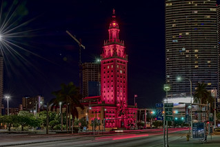 The historical Freedom Tower building, 600 Biscayne Boulevard, Miami, Florida, USA / Architect: Schultze & Weaver / Completed: 1925 / Renovated: 2002 / Renovation Architect: Rodriguez and Quiroga Architects.