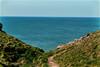 Path to the sea (alangregory1) Tags: mawganporth nawquaycornwall sea sky grass cliffs coastline seascape bluesky coastalpath bluesea