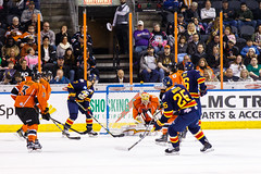 "Kansas City Mavericks vs. Colorado Eagles, December 16, 2017, Silverstein Eye Centers Arena, Independence, Missouri.  Photo: © John Howe / Howe Creative Photography, all rights reserved 2017. • <a style=""font-size:0.8em;"" href=""http://www.flickr.com/photos/134016632@N02/39106653022/"" target=""_blank"">View on Flickr</a>"