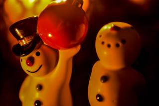 Candle Lit Nervous Snowmen