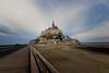 Le Mont-Saint-Michel [Explored] (pauldgooch) Tags: france normandy montsaintmichel canon sea causeway eos 2017 600d dusk monastery coastal unesco brittany seascape tide coast lightroom seaside