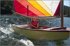 pam in dolphin (tesseract33) Tags: tesseract33 nikon light world art sea ocean water boats sailboat sailboats sabot sailing peterlang penderharbour nikond750 squamishphotographer