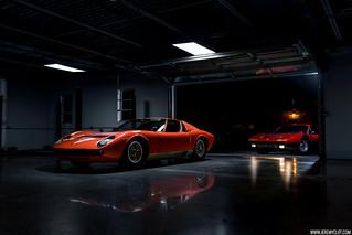 Lamborghini Miura & Ferrari 365BB